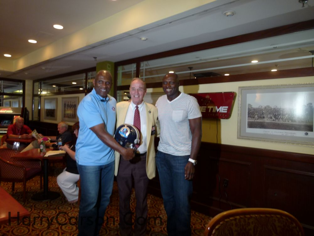 Harry Carson, Sam Huff and Bruce Smith