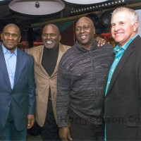 Harry Carson, Lawrence Taylor, Pepper Johnson and Kelley