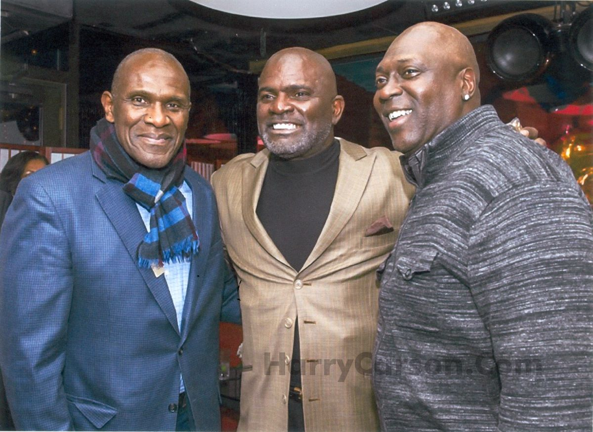 Harry Carson, Lawrence Taylor and Pepper Johnson