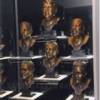 HOF Busts of Troy Aikman, Harry Carson, John Madden,